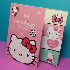 Hello Kitty Post-it Sticky notes 5 pack Kawaii 20 sheets per pad notes book PINK