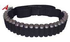 Tactical Hunting Shotgun Shell Holder Belt 25 Shell Cartridge Ammo Sling Black
