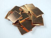 10pcs Laptop GPU CPU Heatsink Thermal Pad Copper Pad Copper Shim:20*20*1.0mm