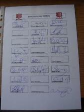 2001 Cricket Autograph Sheet: Essex - 18 Signatures