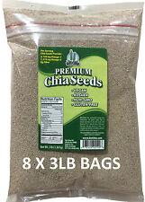 24 LBS Premium WHITE Chia Seed Get Raw Vegan Gluten-Free Non-Gmo Grown Organic