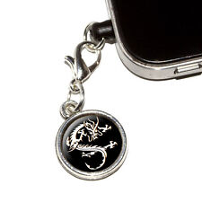 Asian Chinese Dragon - Black - Mobile Cell Phone Jack Anti-Dust Charm - iPhone