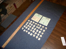 """60 Ivory (Eggshell)  Ribbon Bows w/Pearl 1"""" (2.54cm)for Applique by Wang's Int'l"""