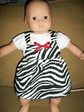 Bitty Baby Twin clothes Zebra Safari dress outfit doll clothes jumper AG