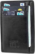 Portafoglio in pelle con blocco RFID, Porta carte di credito elegante ultra slim