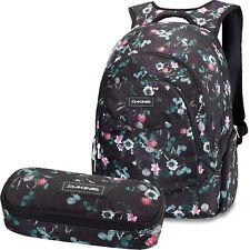 DAKINE SET Laptop Rucksack Schulrucksack PROM 25l + SCHOOL CASE Mäppchen Flora