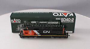 Kato 37-2901 HO CN/IC SD40-2 Diesel W/Snoot Nose #6254 - Custom Painted/Box
