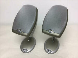 PAIR OF KLIPSCH IFI RSX-3 SILVER SATELLITE SPEAKERS FREE STANDING OR WALL MOUNT