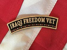 IRAQI FREEDOM VET Small Rocker Patch