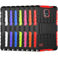 For Samsung Galaxy Note 4 Case Rugged Dual Layer Hybrid Armor Kickstand Cover