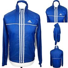 Vintage ADIDAS Windbreaker Jacket Size UK Small Mens In Blue Casuals Well Worn
