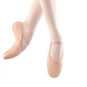 Bloch Leder Ballettschläppchen S0209L Arise - Ganze Sohle- Schwarz Weiß Rosa - C