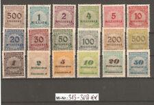 Deutsches Reich Mi-Nr.: 313-30 A Freimarken sauber postfrischer Satz