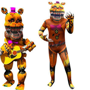 Five Nights at Freddy's Cosplay Costumes 3D Freddy Fazbear Jumpsuit party Set