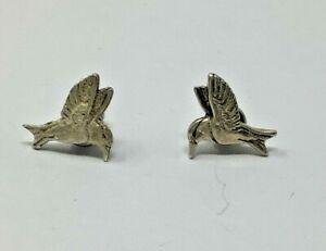 Sterling Silver HUMMINGBIRD Stud Earrings Posts