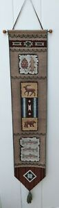 North Woods Tapestry Wall Hanging Bell Pull Cabin Lodge Decor Bear Deer Trout
