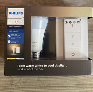Philips Hue White Ambiance E27 Single LED With Dimmer Switch Wireless