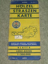 Austria & Italy: Vintage Road map - sheet 9: Lienz to Bolzano.  Scale 1;200,000