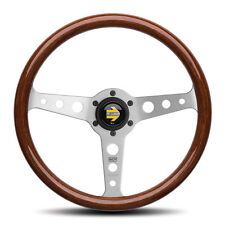 MOMO INDY STEERING WHEEL 350MM MAHOGANY WOOD HONDA TOYOTA PORSCHE BMW