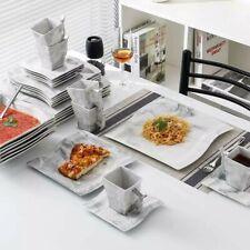 Modern 30-Piece Marble Luxury Porcelain Dinnerware Set with 6*Dinner Plate etc
