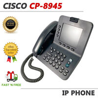Cisco CP-8945 Unified 4-Line VoIP Video Conference Business Phone Color Screen