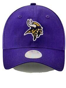Minnesota Vikings NFL Women's Purple New Era Glisten Adjustable Cap - NWT