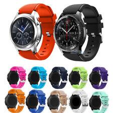 Reloj de pulsera Correa de banda de silicona para Samsung Gear S3 Frontier/Classic 46 22mm