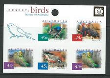 AUSTRALIA 2001 DESERT BIRDS HAFNIA OVERPRINT SHEETLET OF 5 UNMOUNTED MINT