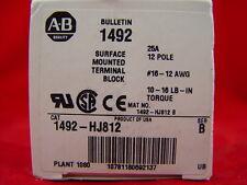 Allen-Bradley 1492-HJ812 Terminal Block Panel Mount 25A 600V AC/DC LOT of 25