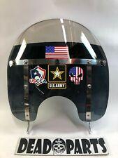Harley short black skull softail detachable windshield bag Memphis shades