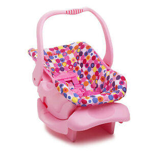 Joovy Doll Toy Infant Car Seat  Kids Girls Pretend Play Doll Accessory Pink