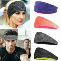 Unisex Wide Gym Running Yoga Sweatband Sweat Headband Stretch Sport Hair Bands