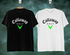 NEW DESIGN !!  CALLAWAY GOLF LOGO Men's Clothing Black & White T Shirt ALL SIZE