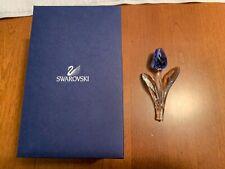 New ListingSwarovski Crystal Large Blue Tulip