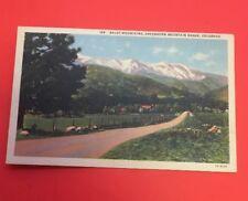 Zt805 Baldy Mountain Greenhorn Mountain Range Colorado Linen Postcard