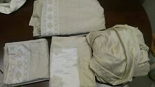 Sahelia Sable/Ivory luxury linens bedding, Walata King Bed Set