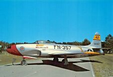 LOCKHEED F-80C SHOOTING STAR~~FIGHTER BOMBER IN KOREAN WAR POSTCARD