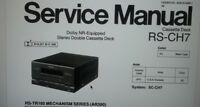 service manual deck piastra a cassette stereo Technics Panasonic RS-CH7 carta a4