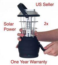 2xL02 Hot Outdoor Solar Power Bright 36LED Hand Crank Camping Lantern Light Lamp