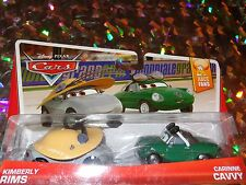 """DISNEY PIXAR CARS """"KIMBERLY RIMS and CARINNE"""" Die-Cast Metal, Scale 1:55, NEW"""