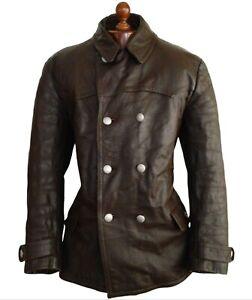 Leather 40s WW2 HORSEHIDE GERMAN LUFTWAFFE Officers Motorcycle Biker Jacket Coat