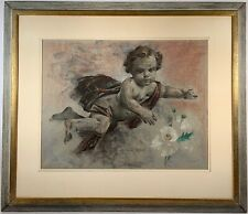 Listed Artist Arthur Meltzer (1893-1989) Signed Pastel Painting w/ Provenance