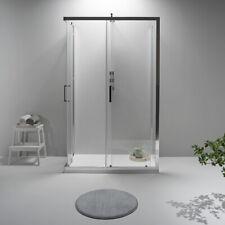 Box doccia 3 tre lati scorrevole in cristallo trasparente opaco varie misure