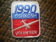 Vintage Patch '90 Oshkosh Volunteer EAA Experimental Aircraft Aviation Wisconsin