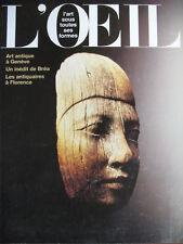 REVUE ART L'OEIL N° 434 de 1991 LOUIS BREA GALLET NOVOA LES LALANNE BULGARI