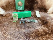 1987 Puma 23 0455 Rambler Knife With ABS Green Checkered Handles Mint In Box Tag