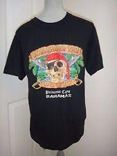 Princess Cays BAHAMAS Men's Black PIRATE SCULL Embellished T-Shirt~COTTON~Size M