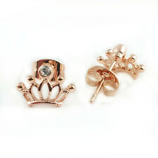 Fashion Jewelry - 18k Rose Gold Plated Crown Stud Earrings (FE358)