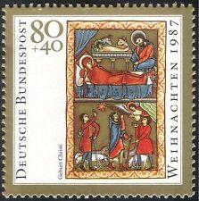 Germania 1987 Natale/Saluti/Natività/ARTE/PITTURA/Bovini/ASINO 1v (g10108)