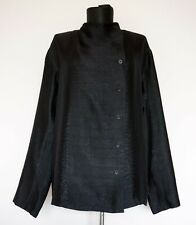 Issey Miyake Cotton Silk Black Shirt Blouse, Size:4; Made in Japan